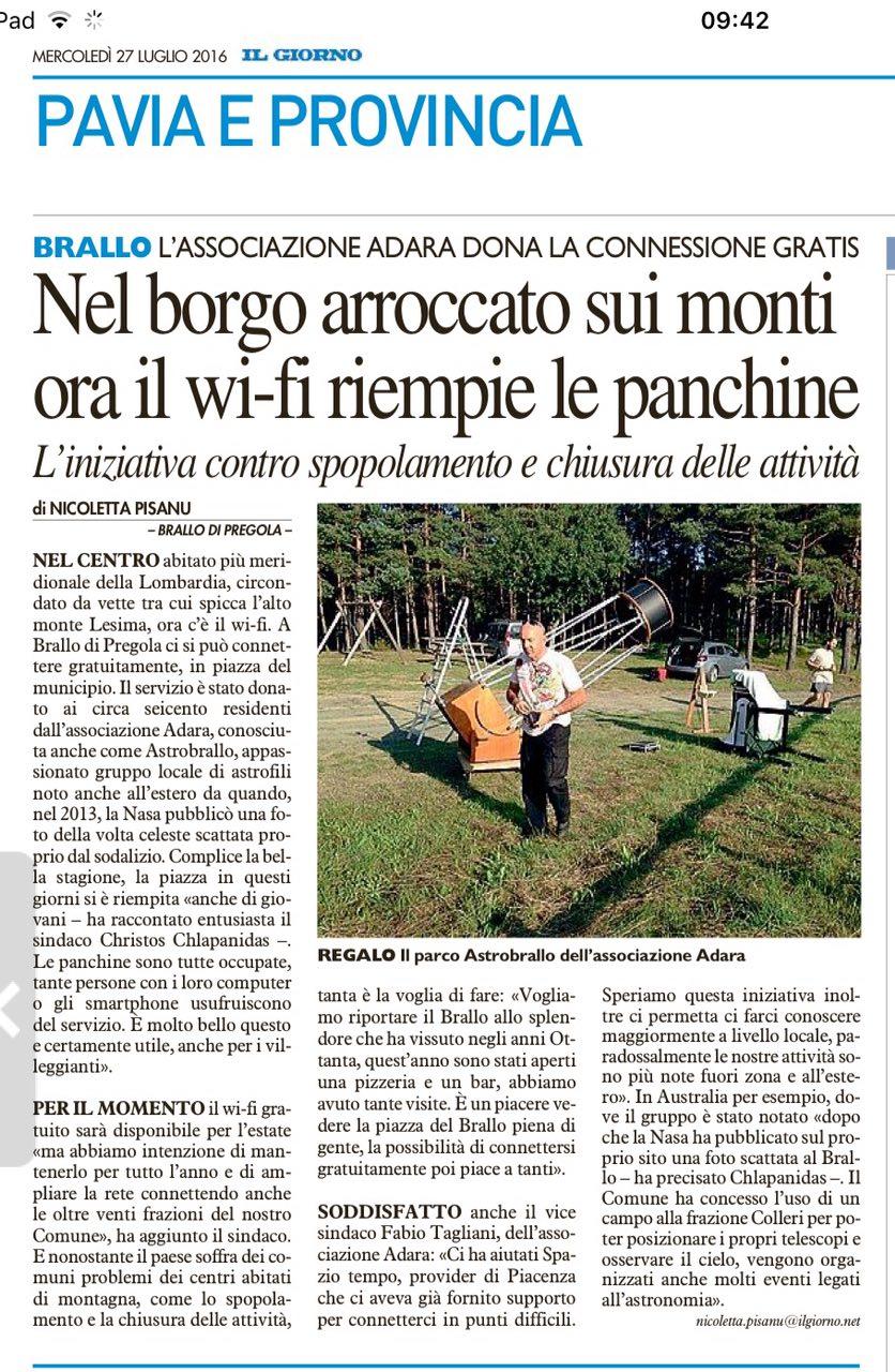 WiFi sul Brallo